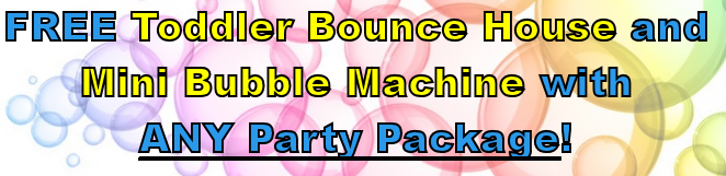 FREE Toddler Bounce House and Bubble Machine!